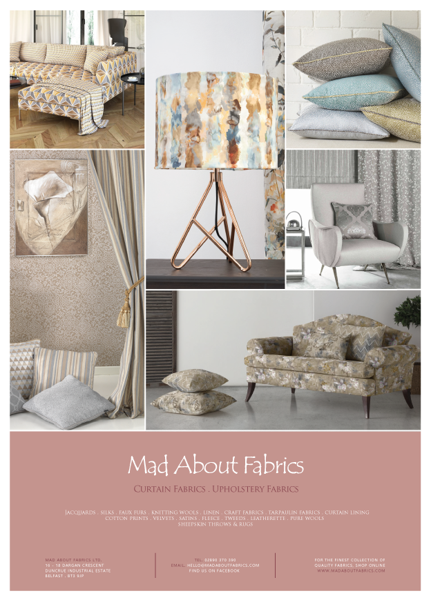 Mad About Fabrics Magazine Advert Ulster Tatler 2019