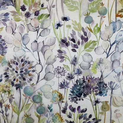 Country Hedgerow Sky Linen Voyage
